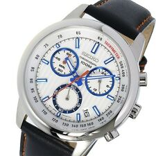 SEIKO Chronograph SSB209P1 Orologio Crono Superior Uomo Leather Men's Watch