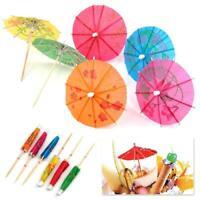 20pcs 3D Drinking Bar Party Umbrella Cocktail Parasol toothpick decor Fruit Q8H6