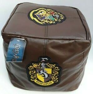 """Bean Bag Cube Harry Potter Crest 12"""" Foot Rest Chair Cushion Seat New With Tags"""