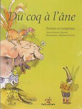 DU COQ A L'ANE Poèmes et comptines Schwartz-Henrich LIVRE jeunesse enfant
