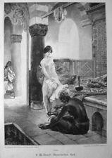 Erotika , Maurisches Bad - Stich v.1896