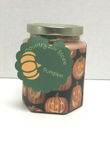 Pumpkin Scented Soy Hexagon Jar Candle