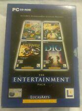 THE ENTERTAINMENT PACK LUCASARTS PC GAME GRIM FANDANGO FULL THROTTLE DIG SAM MAX