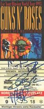 Guns N´Roses Autogramme signed Ticket Bremen 1993