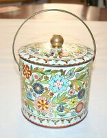 Vintage Daher Tin Made in England Brilliant Floral Colors
