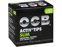 OCB Activ Tips Slim Aktivkohlefilter 7mm 50er Filtertips