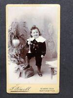Rare Victorian Carte De Visite CDV: Powell: Northampton: Little Boy Trumpet