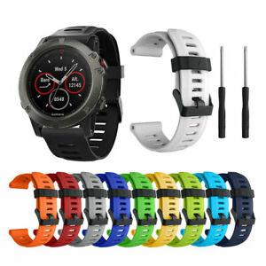 Premium Silicone Quick Install Band Wrist Strap For Garmin Fenix 3/5X GPS Watch^