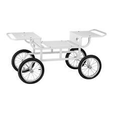 Zuckerwattemaschine Unterwagen Wagen Mobil 4 Lufträder Stahl weiß lackiert Neu