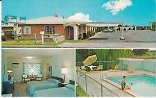"""Las Cruces NM  """"The Town House Motel""""  1960's Postcard New Mexico *FREE US SHIP"""