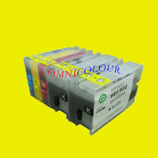 4 empty no chip compatible refillable cartridge for HP 932 933 HP932 6600 6700