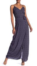 PAIGE Regina Maxi Dress, Parisian Night/Papyrus, Size Small, NWT