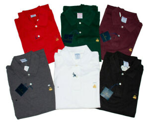 Men's BROOKS BROTHERS 1818 Performance Polo Shirt - SLIM FIT - S M L XL XXL