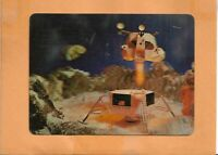 APOLLO 12  MOON LANDING NOV 19,1969 CAPE CANAVERAL 3-D SPACE POSTCARD RARE!!!