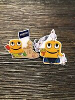 Set of 2 Amazon Employee Peccy Pins Summer Peccy Set