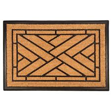 Diagonal Tiles Recycled Rubber and Coir Doormat Multi