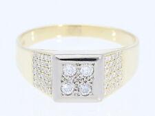 Vintage señores señora anillo 0,45 quilates brillante 585 Gold 14 quilate