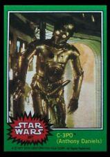 "1977 Topps Star Wars C-3PO ""Golden Rod"" Error 207 REPRINT Green 4th series card"