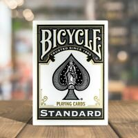 Bicycle STANDARD index playing cards 1 Deck BLACK Poker Magic tricks NEW US