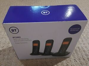BT 3880 Cordless Phone Call Blocking & Answering Machine 3 Handsets NEW & BOXED