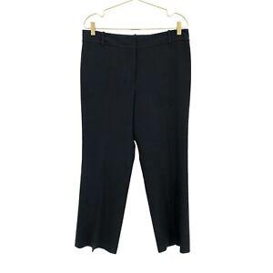 Ann Taylor Women Pants, Straight Dress Career Trouser Black High Rise, Size 12P