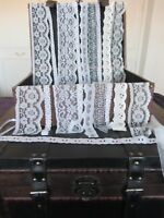 10 Metres Of Premium Quality Lace Pack 1 For Cardmaking, Sewing and Other Crafts