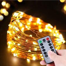 Lichterketten String Kupferdraht Lichter mit Fernbedienung Timer 2er Set