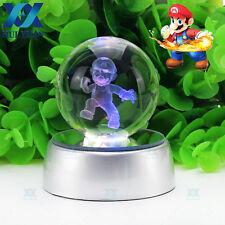 Super Mario 3D DEL Boule De Cristal Lumière Nuit Chambre Table Lampe De Bureau Cadeau 50 mm