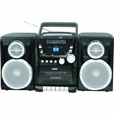 NAXA PORTABLE CD PLAYER AM/FM RADIO CASSETTE DETACHABLE SPEAKERS AC/DC AUX-INPUT