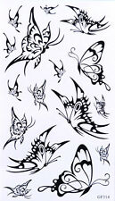 Tatouage Temporaire Papillons 16 Stickers body art