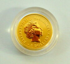 2000 Queen Elizabeth II And Dragon Australia 5 Dollars 1/20 Fine Gold Coin 9999