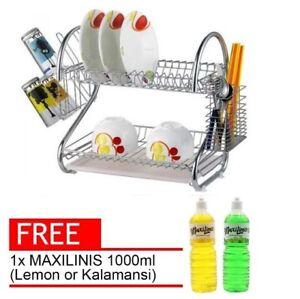 Dishrack With Free 1000ml Maxilinis Dish Washing Liquid