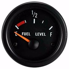 52mm Waterproof Fuel Level Gauge for boat (Black Face Black Rim) 24V