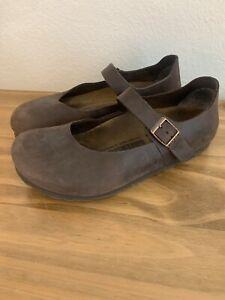 Birkenstock Mandova Mary Jane Habana Oiled brown leather  sz 39 narrow