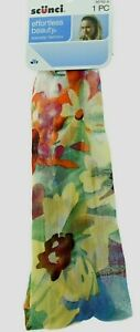 Scunci Effortless Beauty Floral Tropical Headband Orange Pink Yellow New