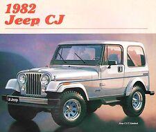 1982 JEEP CJ-5 & CJ-7 BROCHURE -CJ5 RENEGADE-CJ5 LAREDO-CJ7 LAREDO-CJ7 LIMITED
