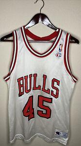 MICHAEL JORDAN #45 CHICAGO BULLS VTG CHAMPION WHITE NBA JERSEY SIZE: 40