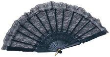 Bristol Novelty BA841 Fan Black Lace Spanish One Size