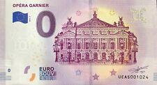 BILLET 0 ZERO EURO SOUVENIR  TOURISTIQUE OPERA GARNIER 2019-2