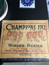 BOSTON RED SOX 1912 WORLD SERIES MATTED PIC.OF GAME PROGRAM/SCOREBOOK
