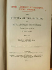 THE HISTORY OF THE ENGLISH, HENRY, ARCHDEACON OF HUNTINGDON, 1879 FIRST EDITION.