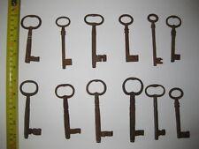 """Lot of 12 large iron keys. Averge length  4 1/2""""  (11,5 cm)"""