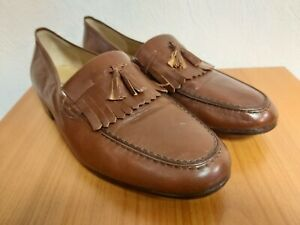 madras leather made in Italy loafers brown size 9 used