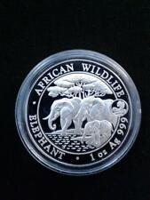 2013 1oz .999 Fine Silver Somalia Elephant Snake Privy