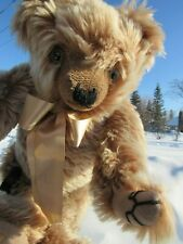 VINTAGE GROWLER TEDDY BEAR MERRYTHOUGHT ENGLAND MOHAIR WEBBED CLAWS HANDSOME GUY