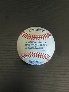 1989 WORLD SERIES BASEBALL