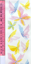 BUTTERFLIES fluttering wall stickers 19 pastel decals room decor insect nursery