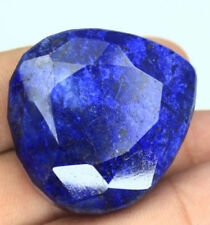 Enorme 37x33mm (238.85cts) Aspecto Pera Certificado Natural Azul Intenso Zafiro