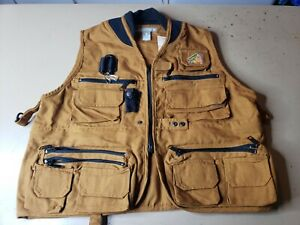 Danielson Classic Utility Fly Fishing Hunting Vest Brown - Small - New with Tag