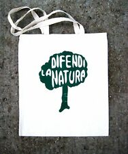 HAND SCREEN PRINTED 'DEFEND NATURE'  TOTE SHOPPING BAG